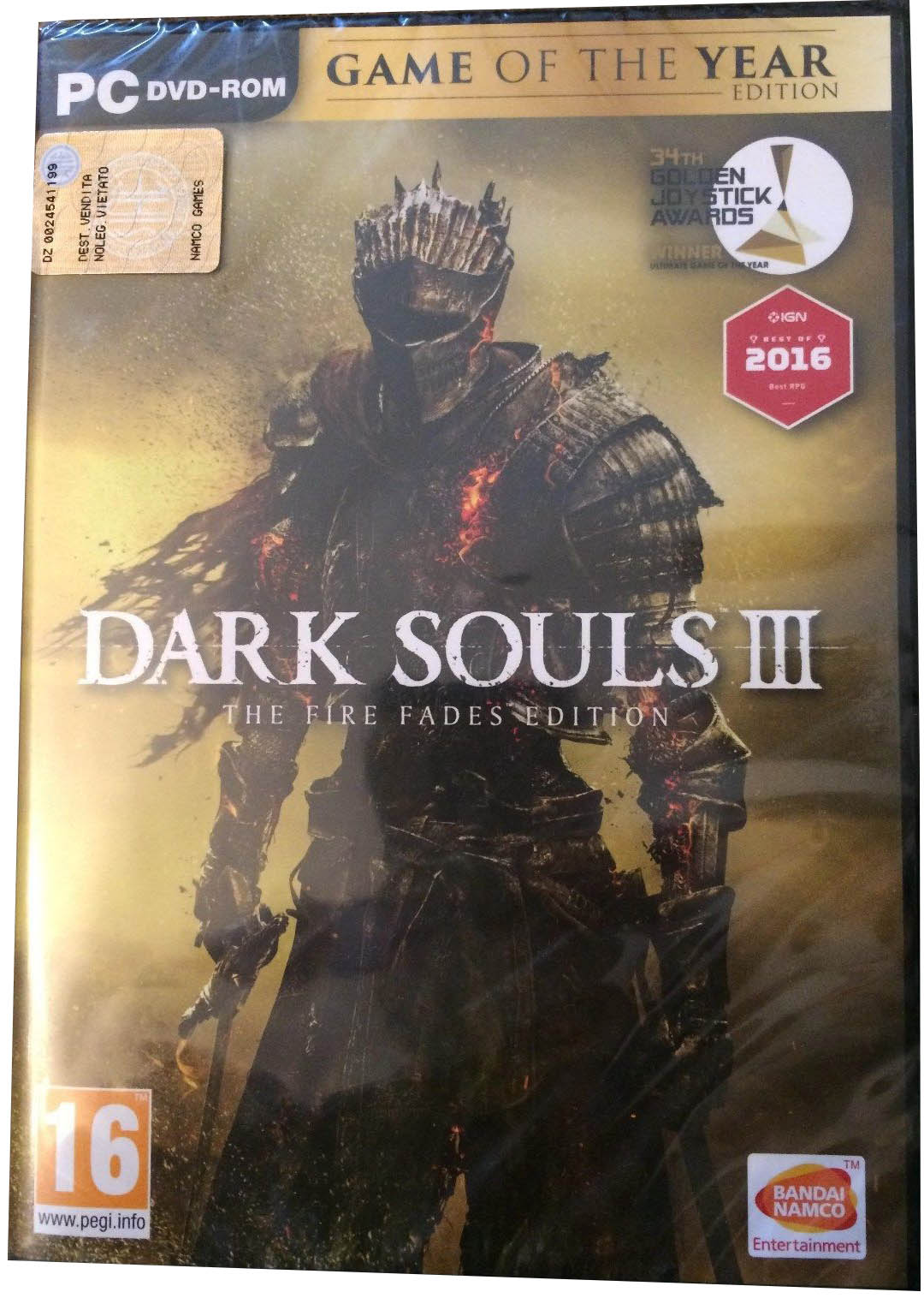 Dark Souls III: The Fire Fades Edition (Game of the Year Edition) PC издание в Европе