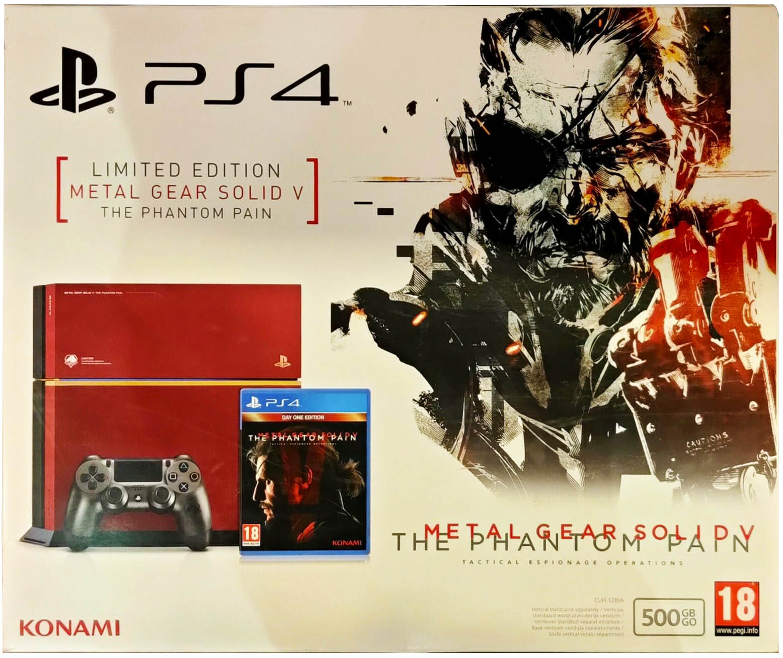 Metal Gear Solid V: The Phantom Pain (Day One Edition) PlayStation 4 Limited Edition Издание в Европе