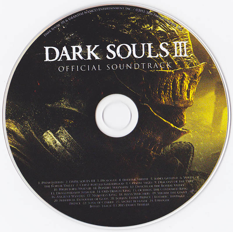 Dark Souls III Official Soundtrack Диск
