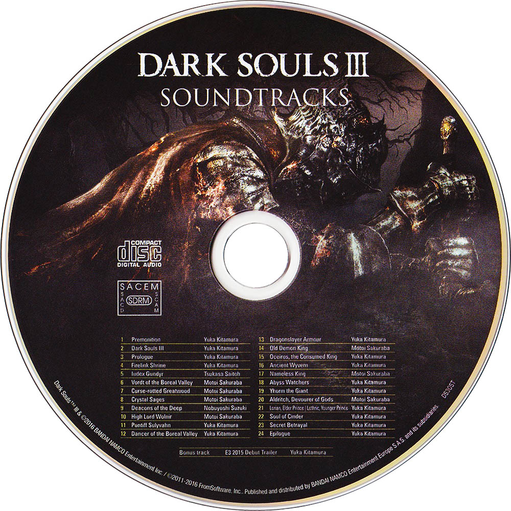 Dark Souls III Soundtracks Диск