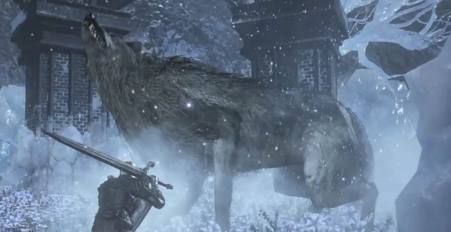 Dark Souls III: Ashes of Ariandel Великий волк, хранитель могилы (Gravetender Greatwolf)